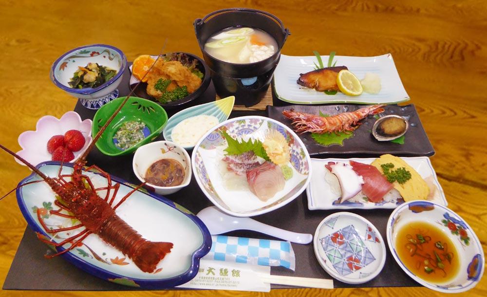 大謙館 夕食の画像