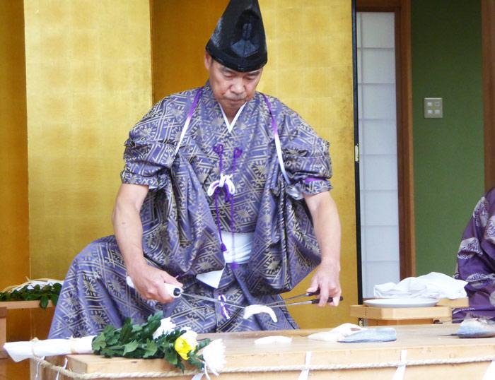 高家神社の庖丁式の様子