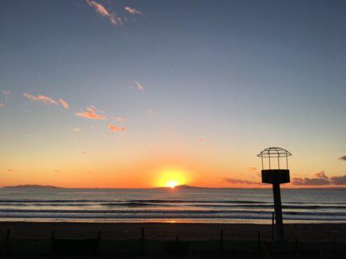 岩井海岸の夕日