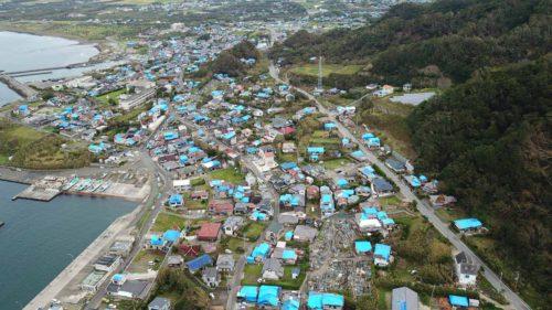 台風15号の被害写真(空撮)