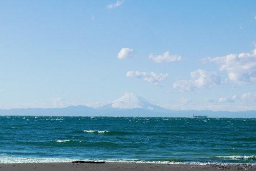 岩井海岸の富士山